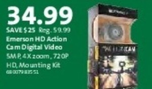 Emerson HD Action Cam Digital Video