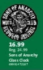 Sons of Anarchy Glass Clock