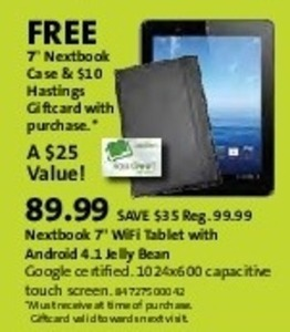"Netbook 7"" Android Jelly Bean Wi-Fi Tablet"