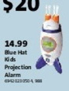 Blue Hat Kids Projection Alarm