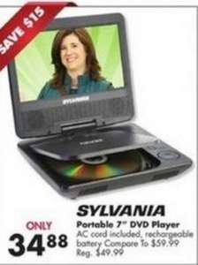 "Sylvania Portable 7"" DVD Player"
