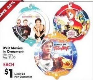 DVD Movies in Ornaments