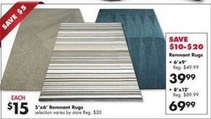 6'x9' Remnant Rugs