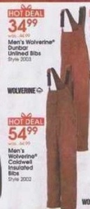 Men's Wolverine Coldwell Insulated bibs
