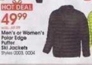 Men's or Women's Polar Edge Puffer Ski Jackets