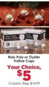 Roly Poly or Oyster Votive Cups