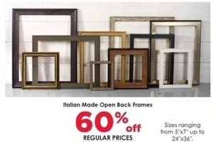 Italian Made Open Back Frames