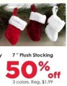 "7"" Plush Stocking"