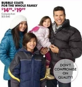 Bubble Coats for the Whole Family