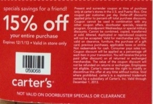 Carters Coupon - Expires 12/1