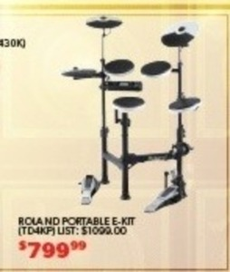 Roland Portable Electric Drum Set