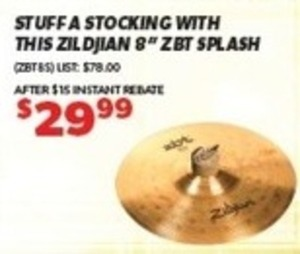"Zildjian 8"" ZBT Splash"