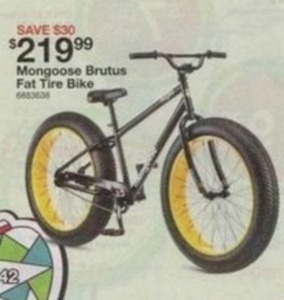 Bikes At Kmart Stores Mongoose Brutus Fat Tire Bike