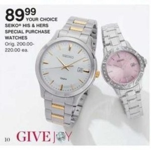 Seiko His & Hers Special Purchase Watches