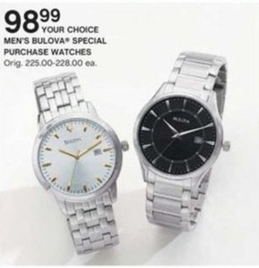 Men's Bulova Special Purchase Watches