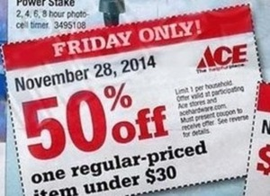 One Reg. Price Item $30+ Coupon - Friday Only