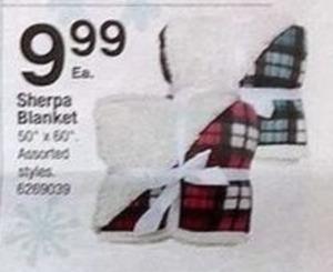 "Sherpa 50""x60"" Blanket"