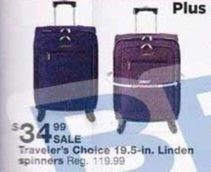 Traveler's Choice 19.5-in. Linden Spinners