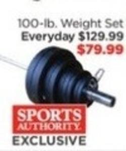 S.A. Gear 100-lb Weight Set