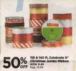 Celebrate It Christmas Jumbo Ribbon