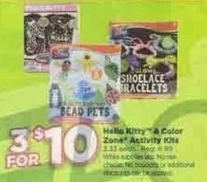 Hello Kitty and Color Zone Activity Kits