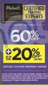 60% Off Custom Framing
