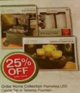 Order Home Collection Flameless Candle Set or Fountain