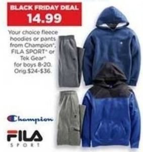 Boys' FILA Sport Fleece Hoodie or Pants