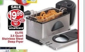 Elite 3.5 Quart Stainless Steel Deep Fryer