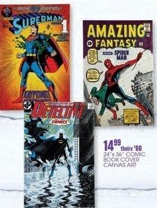 "24""x36"" Comic Book Cover Canvas Art"