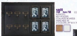 4-Photo Key Holder Collage Boards