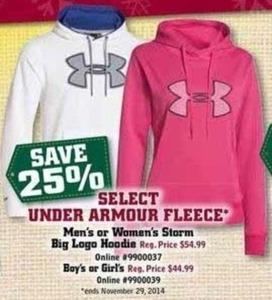 Boy's or Girl's Select Under Armour Fleece