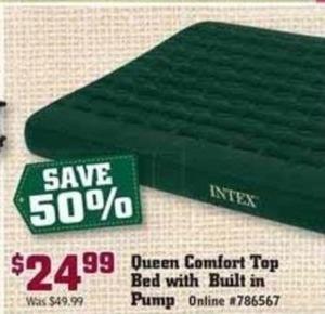 Queen Comfort Top Bed with Built-in Pump