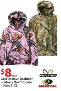 Boys' Realtree or Mossy Oak Hoodie