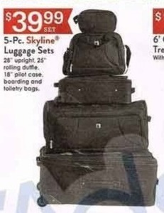 5PC Skyline Luggage Set