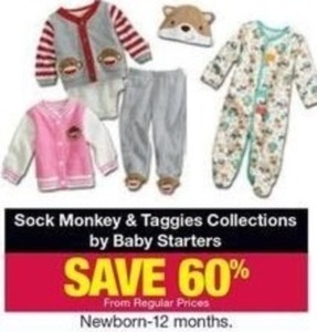Sock Monkey & Taggies Collection by Baby Starters Infant Apparel
