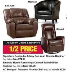 Accent Chairs & Recliners