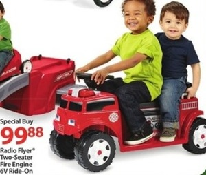 Radio Flyer 2-Seater Fire Engine 6V Ride-On