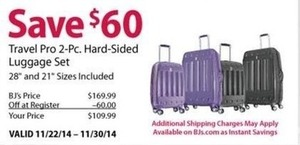 Travel Pro 2-pc. Hard-Sided Luggage Set