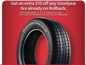 Any Goodyear Tire on Rollback