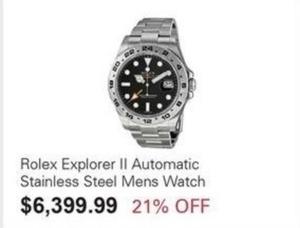 Rolex Explorer II Men's Watch