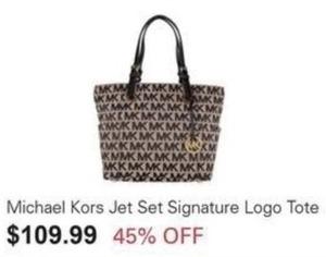 Michael Kors Jet Set Signature Logo Tote
