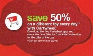 Save on Toys with Cartwheel App