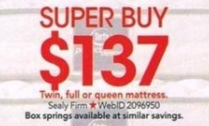 Sealy Firm Queen Mattress