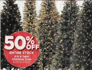 Entire Stock of 6' & Taller Christmas Trees
