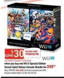 Wii U Special Edition Smash Splat Deluxe Bundle