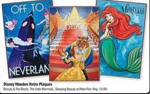 Disney Wooden Retro Plaques