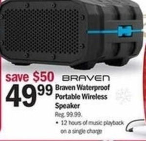 Braven Waterproof Portable Wireless Speaker
