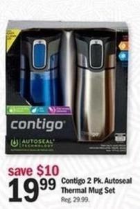 Contigo 2 Pack Autoseal Thermal Mug Set