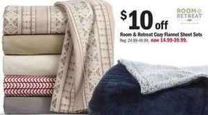 Room & Retreat Cozy Flannel Sheet Sets